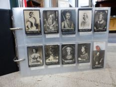 A LARGE COLLECTION OF CIGARETTE CARDS IN ALBUMS.