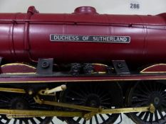MODEL TRAIN. A FINE SCRATCH BUILT? MODEL LMS 462 LOCOMOTIVE DUCHESS OF SUTHERLAND COMPLETE WITH