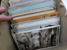 A QUANTITY OF ANTIQUE AND VINTAGE POSTCARDS INC. MANY REAL PHOTOS.