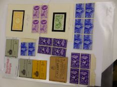 A SMALL COLLECTION OF UNUSED STAMPS TO INCLUDE 4X 3d 1660 GENERAL OFFICE LETTER, 3 X 2/-BOOK OF