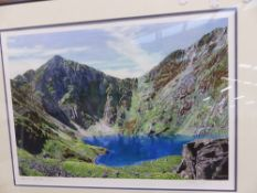AFTER ANTHONY CAIN, TWO LIMITED EDITION PENCIL SIGNED COLOUR PRINTS OF THE SCOTTISH HIGHLANDS.