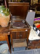 A COLUMBIA CABINET GRAMOPHONE.