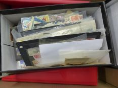 MIXED COLLECTION OF WORLD STAMPS ON STOCK CARDS ETC.