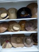 A QUANTITY OF EASTERN AND OTHER WOVEM STRAW AND REED HATS.