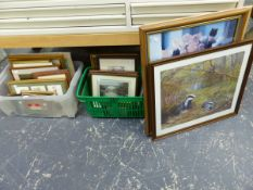 A COLLECTION OF FURNISHING PICTURES INC. EASTERN INLAID FRAMES.