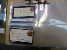 VICTORIAN MOURNING ENVELOPES AND LETTERS. 1867-1881 (6).
