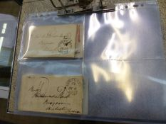 PRE-STAMP, POSTAGE PAID ENTIRE COVERS. 1837-1850 (8).