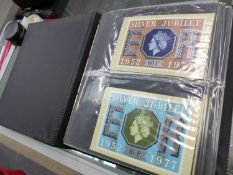 AN ALBUM OF STAMP COVERS AND POST CARDS.