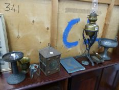 VARIOUS ARTS AND CRAFTS COPPER, BRASS AND OTHER METAL WARES, TOGETHER WITH A BOOK ON ARCHITECTURAL