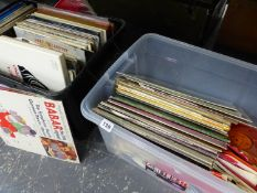 A LARGE QUANTITY OF RECORD ALBUMS MOSTLY CLASSICAL TO INCLUDE BOX SETS.