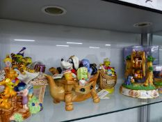 A QUANTITY OF CARDEW DESIGNS DISNEY WINNIE THE POOH AND GOOFY CHARACTERS LIMITED EDITION CERAMIC