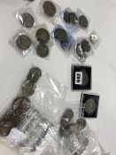 A COLLECTION OF EARLY TO MID 20TH C. GB COINS AND OTHERS.