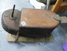 A SET OF VINTAGE FOOT BELLOWS.
