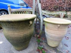 TWO PAIRS OF LARGE TERRACOTTA PLANTERS