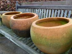 3 SPHERICAL PLANTERS AND FOUR OTHERS