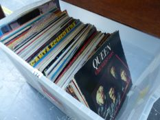 A LARGE QUANTITY OF RECORD ALBUMS TO INCLUDE OLIVIA NEWTON JOHN, DIONNE WARWICK, JOHHNY CASH,