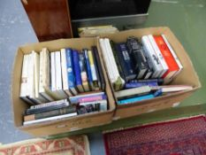 A QUANTITY OF BOOKS RELATING TO ANTIQUES, ART, CLOCKS ETC.