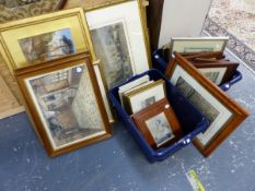 A LARGE COLLECTION OF ANTIQUE AND LATER DECORATIVE PRINTS, PICTURES, INCLUDING SPORTING SUBJECTS,