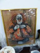 A PASTEL STUDY OF A CLOWN.