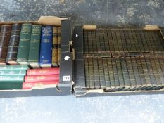 A UNIFORM BOUND SET THE WAVERLEY NOVELS, TOGETHER WITH SIX VOLUMES OF BADMINTON MAGAZINES, AND OTHER