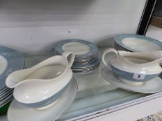 A ROYAL DOULTON REFLECTION PATTERN PART DINNER SERVICE.