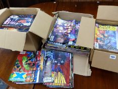 A LARGE COLLECTION OF MARVEL COMICS.