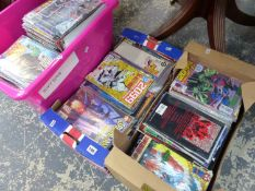 A VERY LARGE COLLECTION (OVER SEVERAL HUNDRED) MARVEL COMICS.