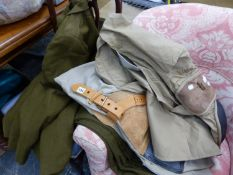 A MILITARY DRESS UNIFORM, AND TWO RIFLE SHOOTING JACKETS.