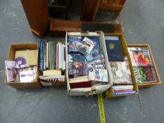 A QUANTITY OF BOOKS AND DVDS ETC.