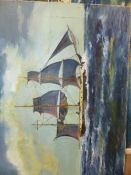 A GROUP OF ANTIQUE AND LATER MARINE RELATED PRINTS, PAINTINGS AND PICTURES. SOME SIGNED, SIZES MAY