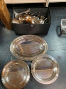 A LARGE QUANTITY OF SILVER PLATED WARES TO INCLUDE CHRISTOFLE, ZALLETTO MADE IN ITALY, AND OTHERS.