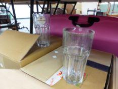 A QUANTITY OF PINT GLASSES.
