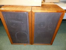 A PAIR OF LATE 60'S/70'S KEF CONCERTO LARGE LANDSCAPES AND A PAIR OF EAGLE SPEAKERS.