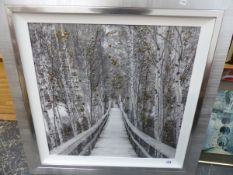 A GROUP OF FURNISHING PICTURES INCLUDING PHOTOGRAPHS, WATERCOLOURS AND OTHER DECORATIVE WORKS, SIZES