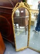 A CLASSICAL STYLE PIER MIRROR.