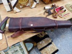 A LEG O MUTTON GUN CASE.