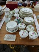 A PART HEREND TEA SET AND A SMALL QUANTITY OF CROWN STAFFORDSHIRE
