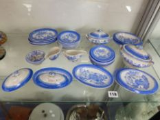 A QUANTITY OF MINIATURE ANTIQUE DOLLS CHINA WARES, TO INCLUDE TUREENS, JUGS ETC.