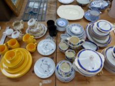 A MASONS REGENCY PATTERN PART TEA SET, A MEAKIN PART DINNER SERVICE, OTHER TEA WARES, AND TWO