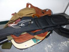 A QUANTITY OF GOOD QUALITY GUN CASES AND SLIPS.