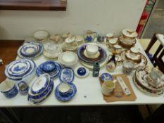 WEDGWOOD ANTIQUE PART TEA SERVICE, OTHER VICTORIAN AND LATER TEA WARES, COPENHAGEN ART VASE, BLUE