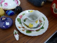 A SMALL MOORCROFT LUSTRE GLAZED VASE, A HAMMERSLEY ROSE DECORATED BOWL AND COVER, AND VARIOUS