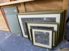 A GROUP OF FRAMED CHINESE IMAGES TOGETHER WITH A RELATED FOLDER OF LOOSE PRINTS, SIZES VARY.