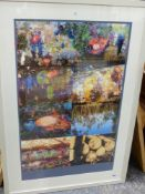 CONTEMPORARY SCHOOL. CLEARING THE FOREST. PHOTO MONTAGE. 86 x 58cms.