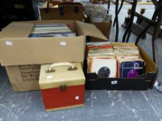 A QUANTITY OF RECORD ALBUMS AND SINGLES, TO INCLUDE CARPENTERS, CHARLEY PRIDE, JIM REEVES,