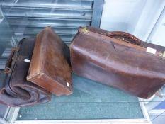 TWO GLADSTONE BAGS, ETC.