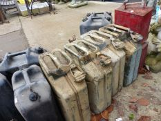 VARIOUS JERRY CANS.