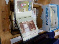 A QUANTITY OF VINTAGE STYLE POSTCARDS, FIRST DAY COVERS, ETC.