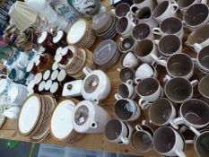 AN EXTENSIVE POOLE TEA SERVICE, A POOLE TEA AND DINNER SERVICE, DENBY TEAWARES, A WEDGWOOD PART