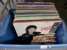 A BOX OF RECORD ALBUMS.